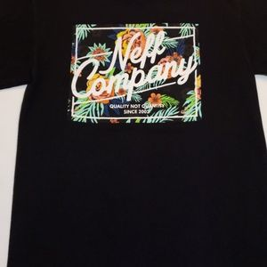 Neff company astro floral tee shirt NWOT new